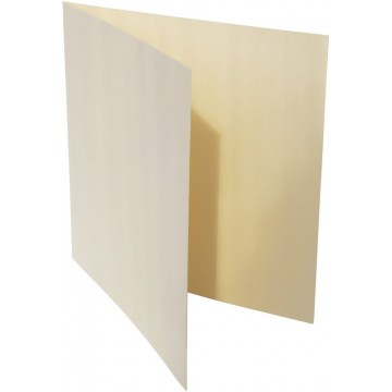 1-Quadratische Klappkarte zum selbst Beschriften in Zart Creme der Größe 155 x 155 mm 15,5 x 15,5 cm Grammatur: 300 g/m²