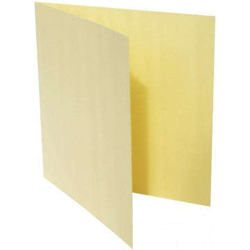 1-Quadratische Klappkarte zum selbst Beschriften in Hell Gelb der Größe 160 x 160 mm 16 x 16 cm Grammatur: 300 g/m²