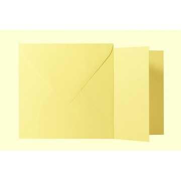 1 Briefumschlag Hell Gelb  Größe 14 X 14 cm 120g + Klappkarte 300g Größe 13,5 X 13,5 cm,