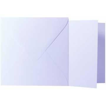 1 Briefumschlag Weiß Größe 13 X 13 cm 120g + Klappkarte 300g Größe 12,5 X 12,5 cm,