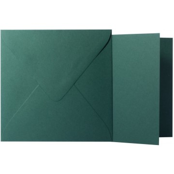 1 Briefumschlag Tannen Grün  Größe 13 X 13 cm 120g + Klappkarte 300g Größe 12,5 X 12,5 cm,