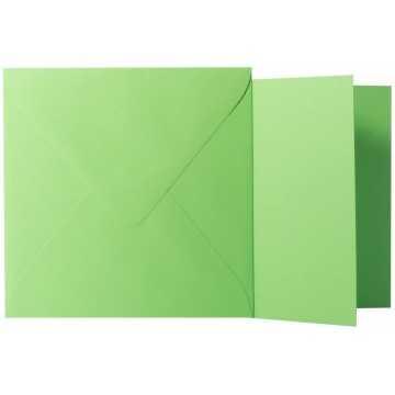 1 Briefumschlag Gras Grün Größe 12,5 X 12,5 cm 120g + Klappkarte 300g Größe 12 X 12 cm,