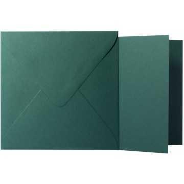 1 Briefumschlag Tannen Grün Größe 10 X 10 cm 120g + Klappkarte 300g Größe 9,5 X 9,5 cm,