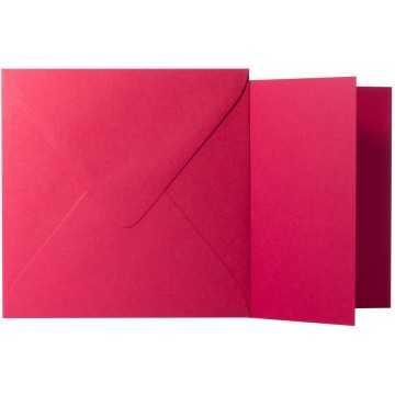 1 Briefumschlag Rosen Rot Größe 10 X 10 cm 120g + Klappkarte 300g Größe 9,5 X 9,5 cm,