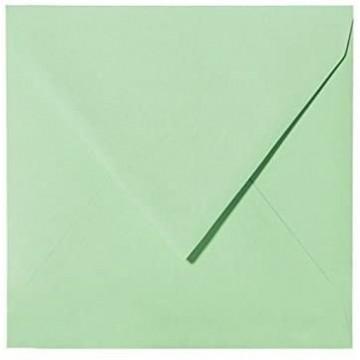 1 Briefumschlag 15 x 15 cm 150 x 150 mm Minze Verschluss: feuchtklebend