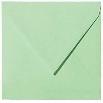 1 Briefumschlag 11,0 x 11,0 cm 110 x 110 mm Minze Verschluss: feuchtklebend