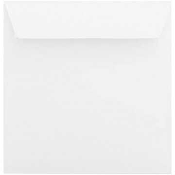 1 Briefumschlag 18 x 18 cm 180 x 180 mm Weiß Verschluss: Kuverts mit Haftstreifen