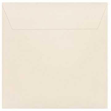 1 Briefumschlag 18 x 18 cm 180 x 180 mm Zart Creme Verschluss: Kuverts mit Haftstreifen