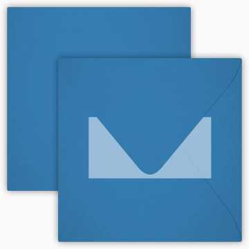 1 Briefumschlag 15 x 15 cm 150 x 150 mm Schwarz Verschluss: Kuverts mit Haftstreifen Grammatur: 120 g/m²