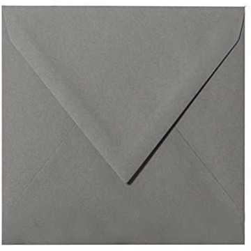 1- Briefumschlag 14,5 x 14,5 cm 145 x 145 mm Tannen Grün gerippt mit Innenfutter ( Weiß ) Verschluss: feuchtklebend  100 g/m²