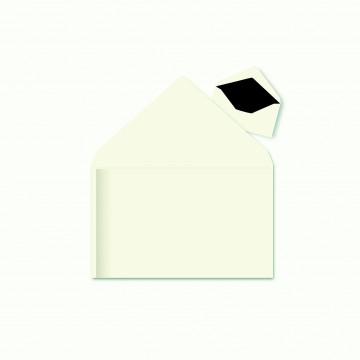 1 Trauerumschlag 120 x 191 mm Weiß mit Schattenrand für Beerdigung, Danksagung