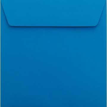 1 Briefumschlag 17 x 17 cm 170 x 170 mm Blau Verschluss: Kuverts mit Haftstreifen