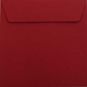 1 Briefumschlag 17 x 17 cm 170 x 170 mm Bordeaux Verschluss: Kuverts mit Haftstreifen