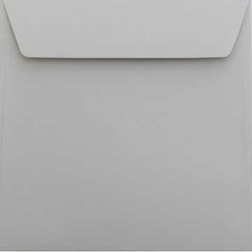 1 Briefumschlag 17 x 17 cm 170 x 170 mm Hell Grau Verschluss: Kuverts mit Haftstreifen