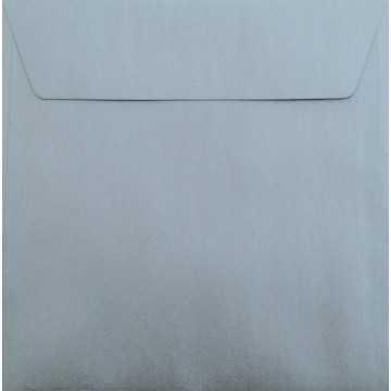 1 Briefumschlag 17 x 17 cm 170 x 170 mm Silber Verschluss: Kuverts mit Haftstreifen