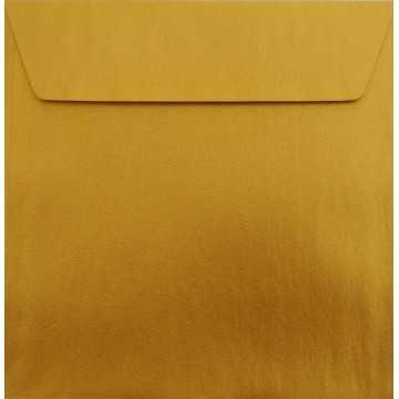 1 Briefumschlag 17 x 17 cm 170 x 170 mm Gold Verschluss: Kuverts mit Haftstreifen