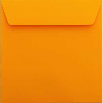 1 Briefumschlag 18 x 18 cm 180 x 180 mm Orange Verschluss: Kuverts mit Haftstreifen