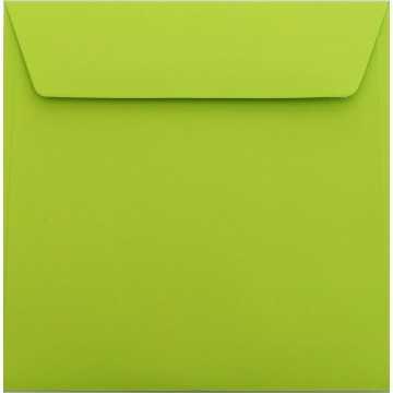 1 Briefumschlag 18 x 18 cm 180 x 180 mm Hell Grün Verschluss: Kuverts mit Haftstreifen