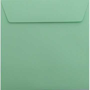 1 Briefumschlag 18 x 18 cm 180 x 180 mm Minze Verschluss: Kuverts mit Haftstreifen