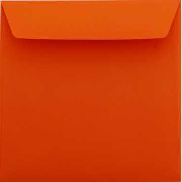 1 Briefumschlag 18 x 18 cm 180 x 180 mm Mandarine Verschluss: Kuverts mit Haftstreifen