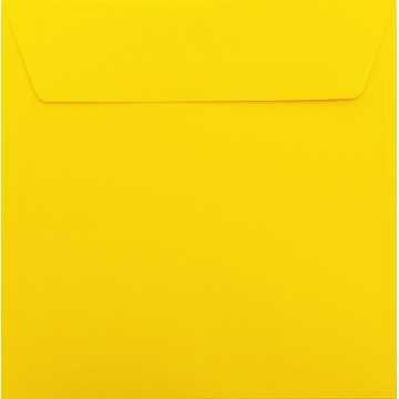 1 Briefumschlag 18 x 18 cm 180 x 180 mm Intensiv Gelb Verschluss: Kuverts mit Haftstreifen