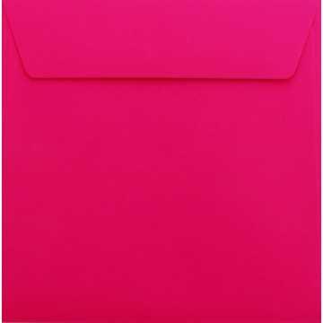 1 Briefumschlag 18 x 18 cm 180 x 180 mm Pink Verschluss: Kuverts mit Haftstreifen