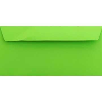1 Briefumschlag Gras Grün Din lang 11 x 22 cm mit Haftstreifen