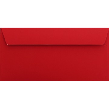 1 Briefumschlag Rosen Rot Din lang 11 x 22 cm mit Haftstreifen