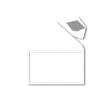 1 Trauerumschlag 120 x 191 mm Polar Weiß mit Grauen Rahmen für Beerdigung, Danksagung