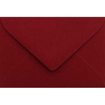 1 Briefumschlag Mini geeignet für Visitenkarten Bordeaux 6 x 9 cm Verschluss-Technik: feuchtklebend