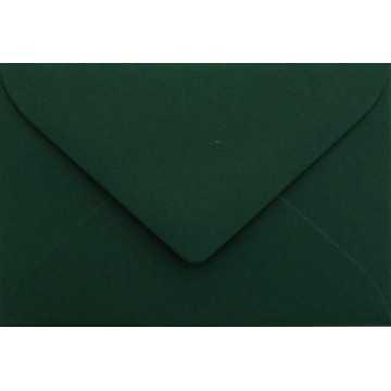 1 Briefumschlag Mini geeignet für Visitenkarten Tannen Grün 6 x 9 cm Verschluss-Technik: feuchtklebend