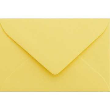 1 Briefumschlag Mini geeignet für Visitenkarten Hell Gelb 6 x 9 cm Verschluss-Technik: feuchtklebend