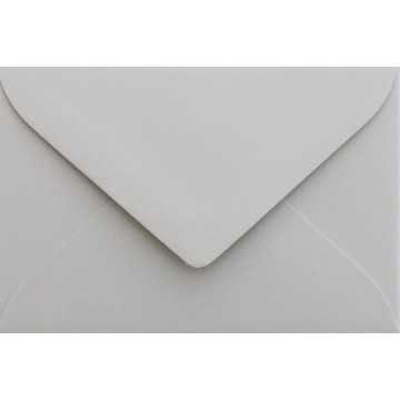 1 Briefumschlag Mini geeignet für Visitenkarten Hell Grau 6 x 9 cm Verschluss-Technik: feuchtklebend