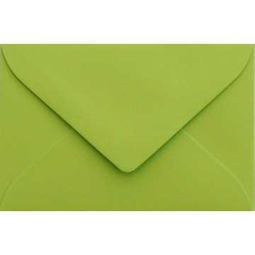 1 Briefumschlag Mini geeignet für Visitenkarten Hell Grün 6 x 9 cm Verschluss-Technik: feuchtklebend