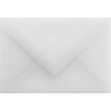 1 Briefumschlag Mini geeignet für Visitenkarten 6 x 9 cm Transparente Weiß Verschluss: feuchtklebend