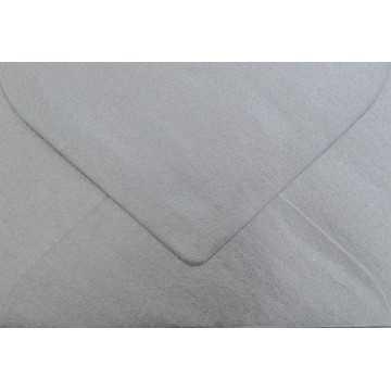 1 Briefumschlag Mini geeignet für Visitenkarten Silber 6 x 9 cm Verschluss-Technik: feuchtklebend