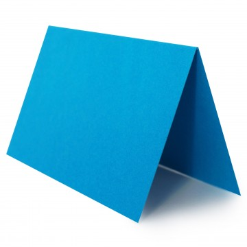 1 Tischkarte zum selbst Beschriften - Blau Grammatur: 240 g/m² - 100 x 120 mm 10 x 12 cm