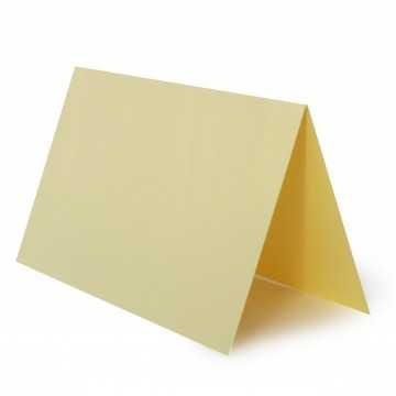 1 Tischkarte zum selbst Beschriften - Hell Gelb Grammatur: 240 g/m² - 100 x 120 mm 10 x 12 cm