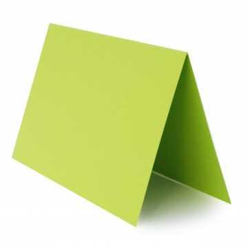 1 Tischkarte zum selbst Beschriften - Hell Grün Grammatur: 240 g/m² - 100 x 120 mm 10 x 12 cm