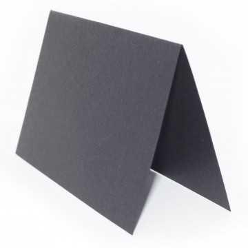 1 Tischkarte zum selbst Beschriften - Schwarz Grammatur: 240 g/m² - 100 x 120 mm 10 x 12 cm
