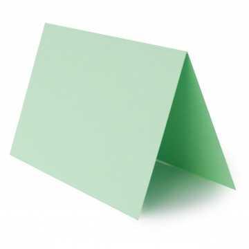 1 Tischkarte zum selbst Beschriften - Minze Grammatur: 240 g/m² - 100 x 120 mm 10 x 12 cm