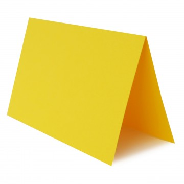 1 Tischkarte zum selbst Beschriften - Intensiv Gelb Grammatur: 240 g/m² - 100 x 120 mm 10 x 12 cm