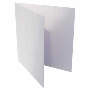 1 Quadratische Klappkarte zum selbst Beschriften in Polar Weiß: