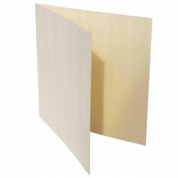 1 Quadratische Klappkarte zum selbst Beschriften Zart Creme: