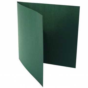 1 Quadratische Klappkarte zum selbst Beschriften Tannen Grün
