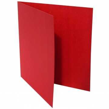 1 Quadratische Klappkarte zum selbst Beschriften Rosen Rot