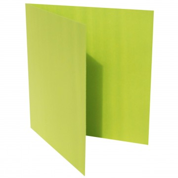 1 Quadratische Klappkarte zum selbst Beschriften Hell Grün