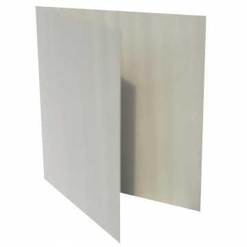 1 Quadratische Klappkarte zum selbst Beschriften Hell Grau
