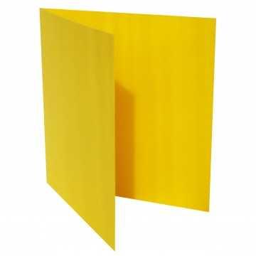 1 Quadratische Klappkarte zum selbst Beschriften Intensiv Gelb