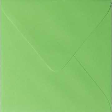 Briefumschlag 8 x 8 cm 80 x 80 mm Farbe: Gras Grün Verschluss: feuchtklebend Grammatur: 100 g/m²